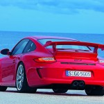 2010 Red Porsche 911 GT3 Wallpaper Rear angle view