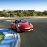 2010 Red Porsche 911 Turbo Wallpaper Front angle view