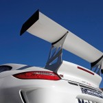 2010 White Porsche 911 GT3 R Wallpaper Rear view Spoiler