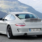 2010 White Porsche 911 Sport Classic Wallpaper Rear angle view