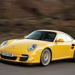 2010 Yellow Porsche 911 Turbo Wallpaper Front angle side view