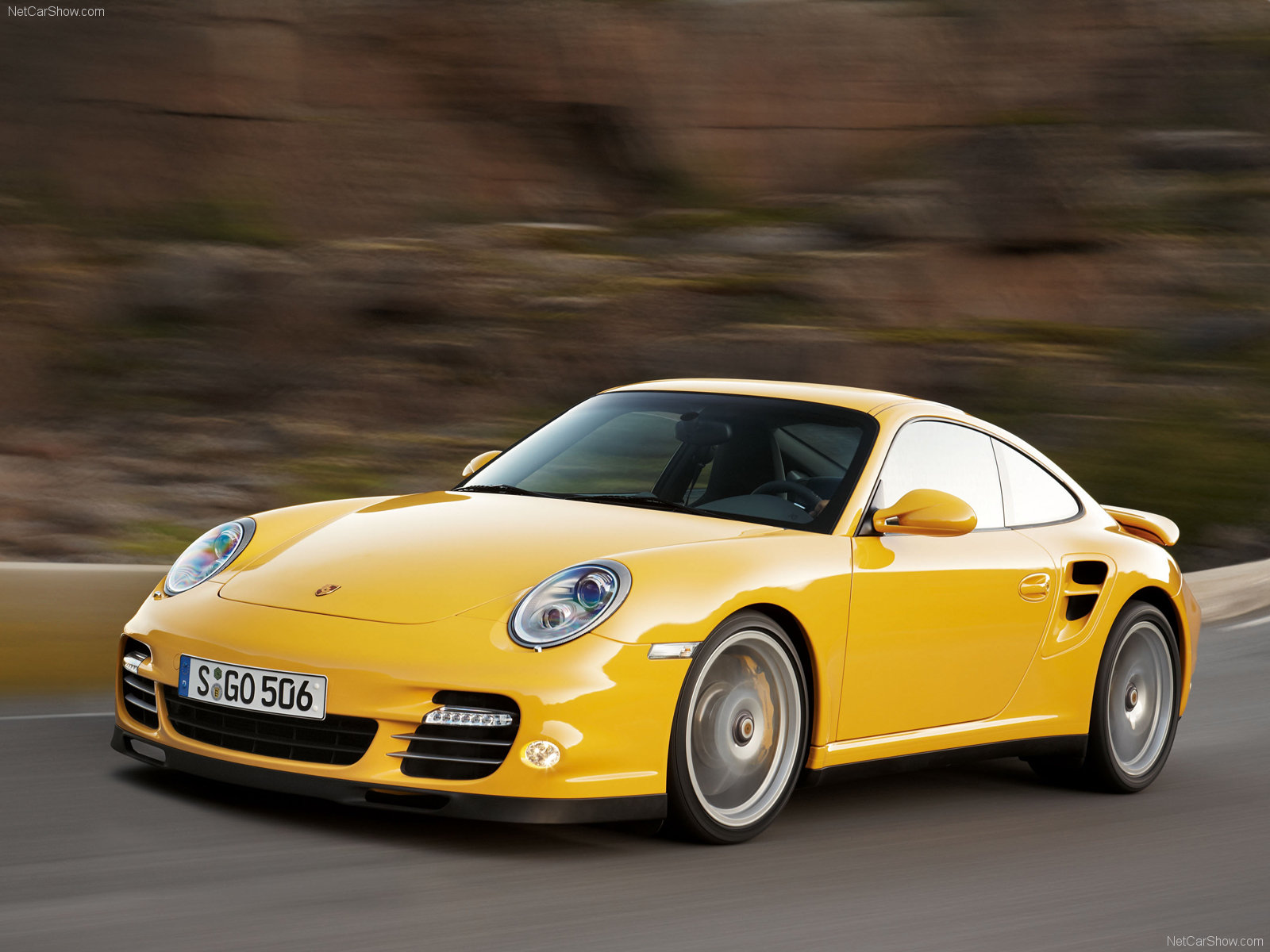 2010 Yellow Porsche 911 Turbo wallpapers