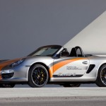 Electric Porsche Boxster E First drive Front angle side view