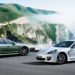 2011 White Porsche Panamera Diesel wallpaper Side view