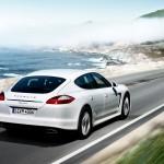 2011 White Porsche Panamera Diesel 3000x1560 wallpaper Rear angle side view