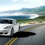 2011 White Porsche Panamera Diesel 3000x1560 wallpaper Front angle view