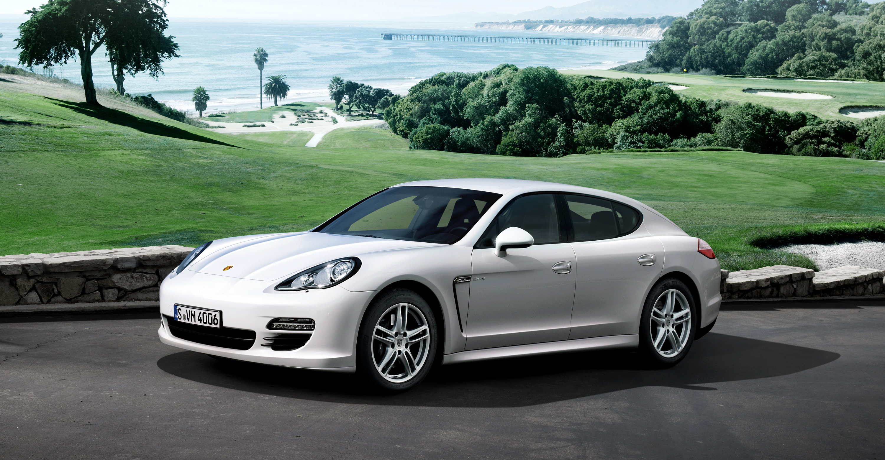 Porsche Panamera Lease >> 2011 White Porsche Panamera Diesel wallpapers