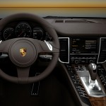 2011 White Porsche Panamera Diesel wallpaper Interior