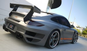 Andrew Bynum's Porsche 911 TECHART GTstreet Rear angle side view