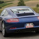 2012 new Porsche 911 (Porsche 991) Spy shot Rear view