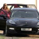 Katie Price and black Porsche Panamera