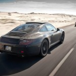 New Porsche 911 (Porsche 991) first drive Rear angle side view