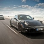 New Porsche 911 (Porsche 991) first drive Front angle side view