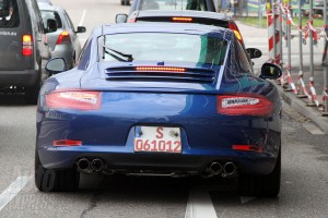 new Porsche 911 (2012 Porsche 991) Rear view