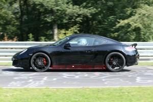 New Porsche Cayman 2012 Spy Shots Side view