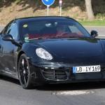 New Porsche Cayman 2012 Spy Shots Front angle view