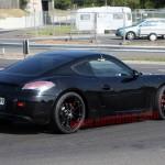 New Porsche Cayman 2012 Spy Shots Rear angle side view
