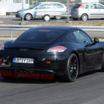 New Porsche Cayman 2012 Spy Shots Rear angle view