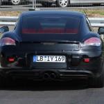 New Porsche Cayman 2012 Spy Shots Rear view