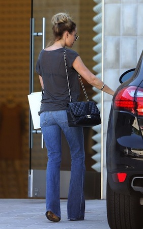 Celebrity car: Lauren Conrad at her black Porsche Cayenne