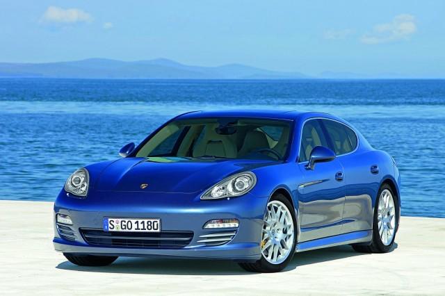 Blue Porsche Panamera