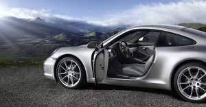 2012 new porsche 911 Carrera Side view Doors open