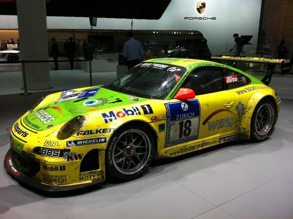Porsche 911 GT3 RSR at Frankfurt Motorshow 2011