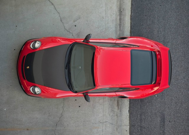 Red Porsche 911 GT2 RS Top view
