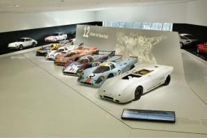 Porsche 917 stand at Porsche museum