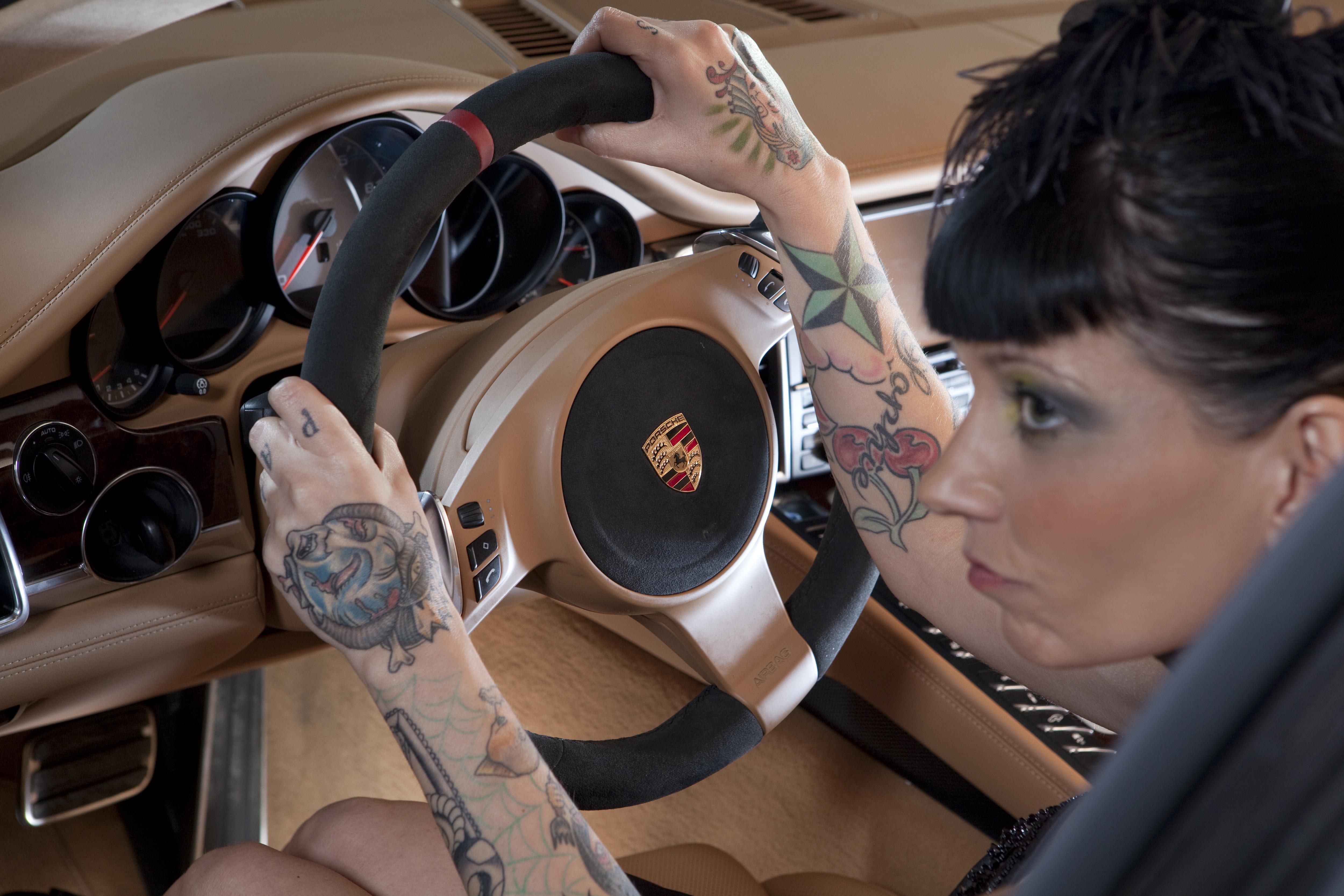 Porsche Panamera and Car Girl