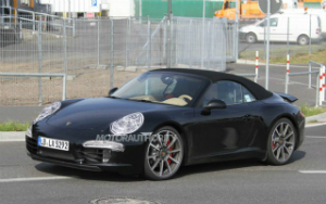 New Porsche 911 Cabriolet Front angle side view