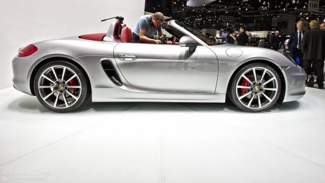 New Porsche Boxster side view
