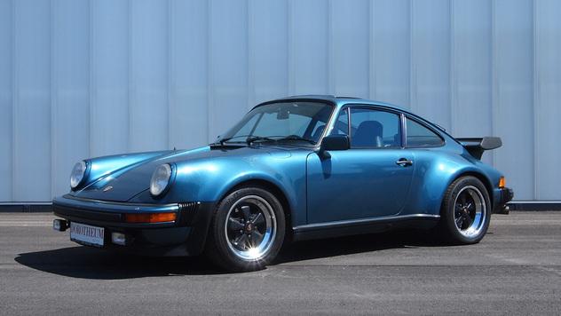 turquoise 1979 Porsche 911 Turbo