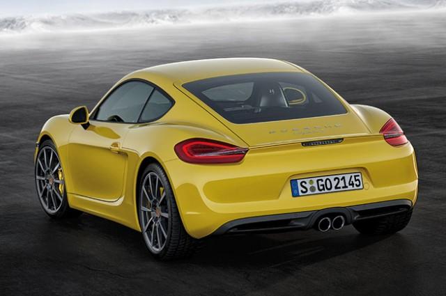 new Porsche Boxster rear angle view