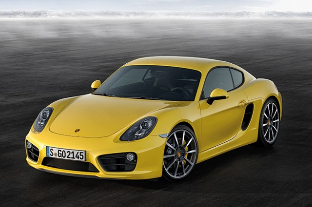 new Porsche Boxster front angle view