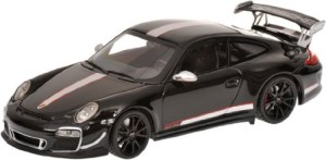 Porsche gift: 2011 Porsche 911 GT3 RS 4.0 (997 II) in Black Diecast Model Car in 1-43 Scale model