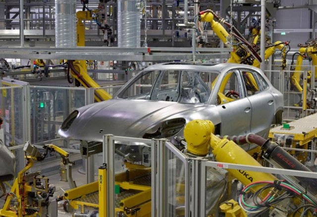 Porsche Macan production at porsche leipzig plant